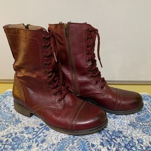 Steve Madden Troopa Wine Color Boots